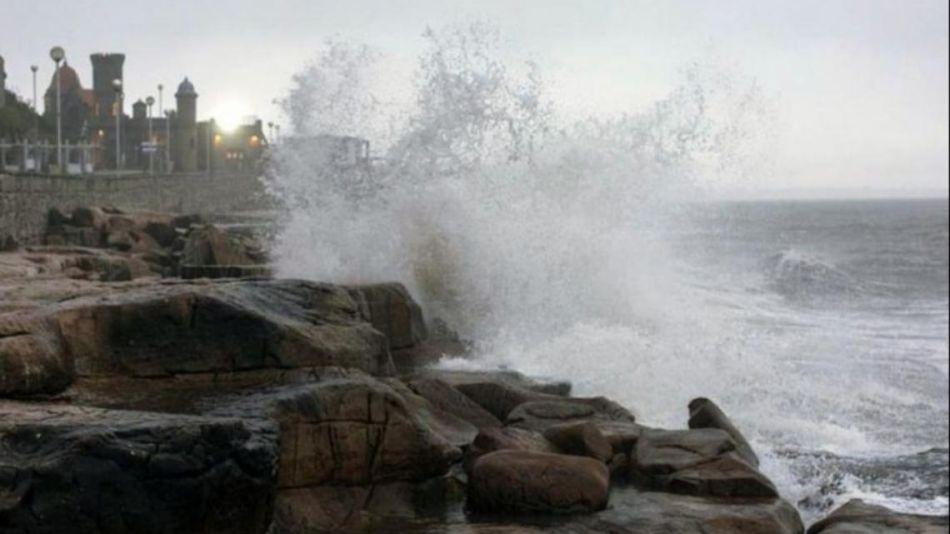 Fuertes vientos en la costa atlántica bonaerense