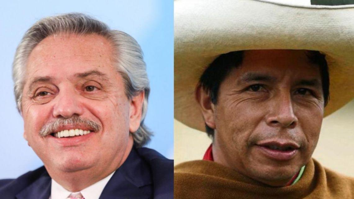 Alberto Fernández and Pedro Castillo.