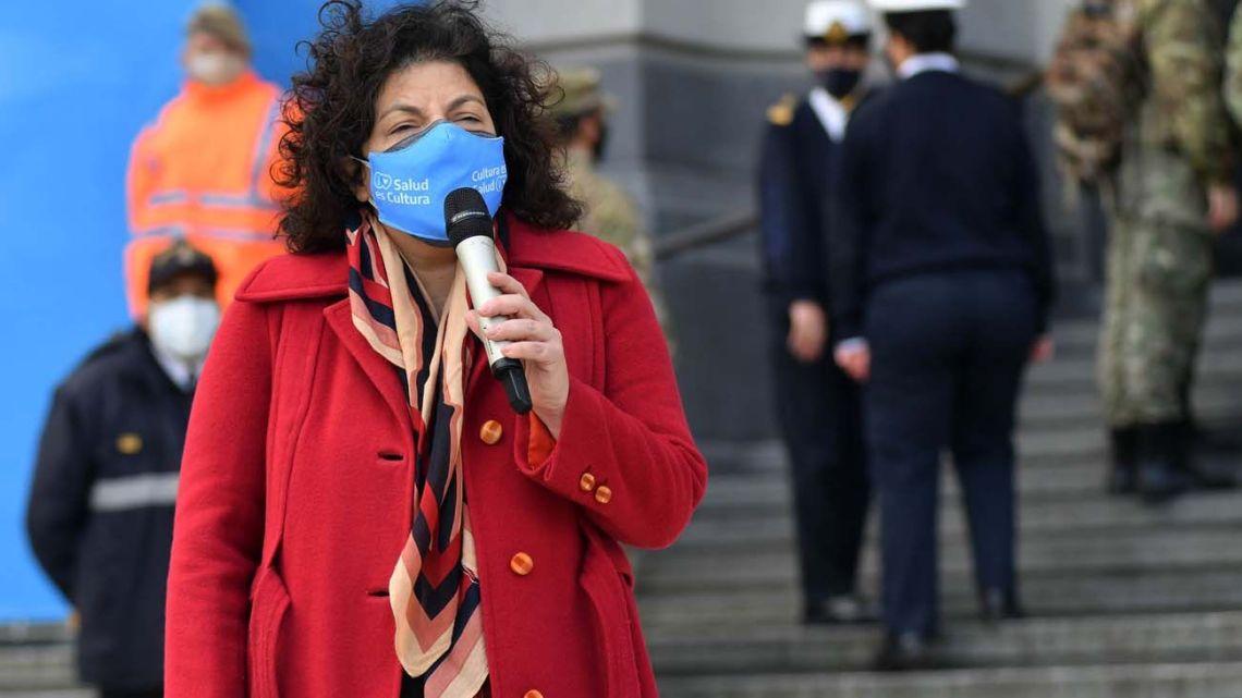 Health Minister Carla Vizzotti.