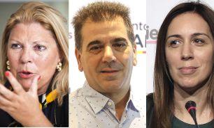 Elisa Carrió, Cristian Ritondo y María Eugenia Vidal 20210727