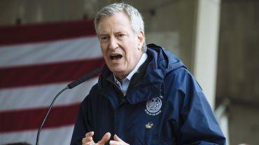 Governor Cuomo And Mayor De Blasio Welcome USNS Comfort Ship To New York