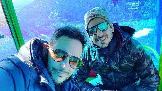 Las fotos de las vacaciones de Rodrigo Lussich y su pareja en Bariloche