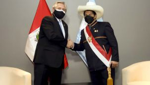 Alberto Fernández con Pedro castillo-20210728