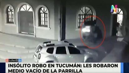 Insólito robo en Tucumán: les robaron medio vacío de la parrilla
