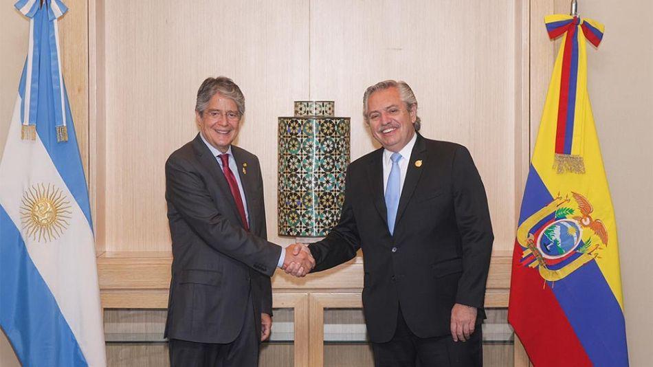 Alberto Fernández se reunió en Lima con su par de la República del Ecuador