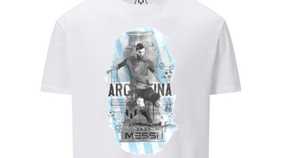 Remera de edición limitada que lanzó Messi por la Copa América