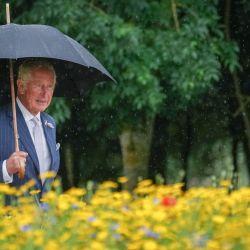 El Príncipe Carlos de Inglaterra, llega para asistir a la ceremonia de dedicación del nuevo monumento nacional a la Policía del Reino Unido en el National Memorial Arboretum de Alrewas, en el centro de Inglaterra. | Foto:Christopher Furlong / POOL / AFP