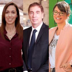 Los candidatos puestos a dar explicaciones. | Foto:CEDOC
