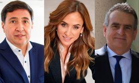 Daniel Arroyo, Victoria Tolosa Paz and Agustín Rossi.