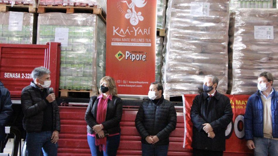 Primera exportación de yerba mate a India