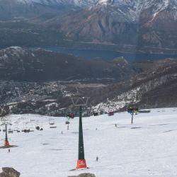 El cerro Catedral está a pleno recibiendo a esquiadores de todas las edades.