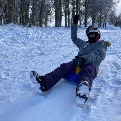 Piedras Blancas es la opción para lo que no quieren esquiar pero tienen ganas de estar en contacto con la nieve.