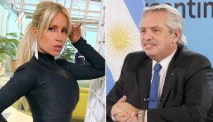 Florencia Peña y Alberto Fernandez