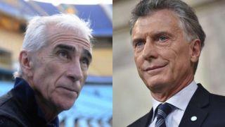 Chino Benítez y Mauricio Macri
