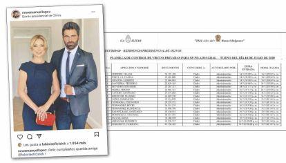 Registros. Emanuel López se presenta como amigo de la primera dama. Estuvo en su cumple en la quinta presidencial y lo dejó inmortalizado en Instagram.
