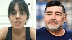 Magali Gil y Diego Maradona
