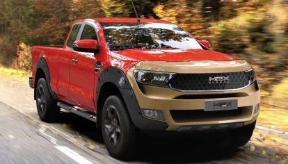 H2X Warrego, una pick-up de hidrógeno basada en Ford Ranger