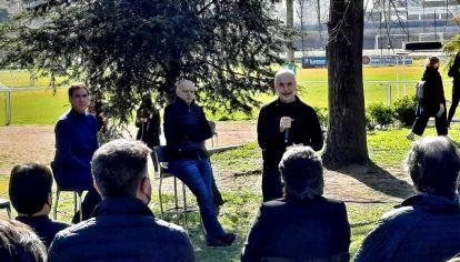 Horacio Rodríguez Larreta con Diego Santilli y los candidatos