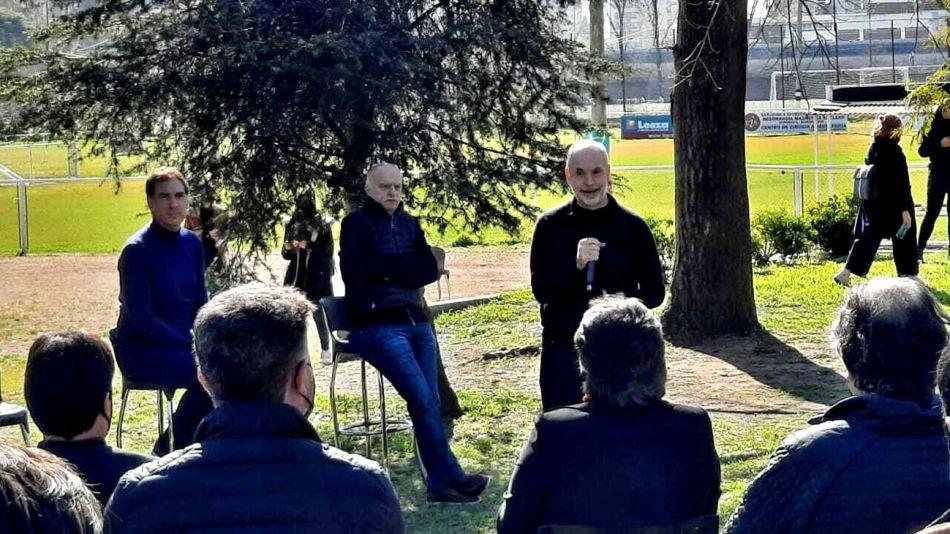 Horacio Rodríguez Larreta con Diego Santilli y los candidatos 20210803