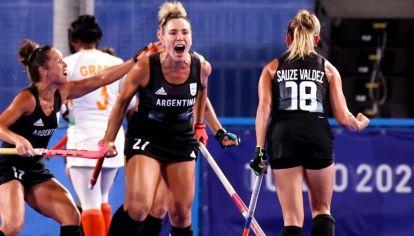 Las Leonas vencieron a India y están en la final olímpica. // Telam