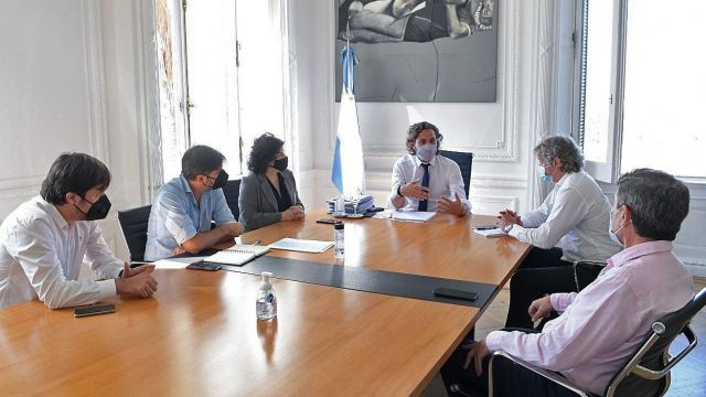 Santiago Cafiero con ministros nacionales, bonaerenses y porteños