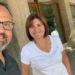 Diego Valenzuela y Patricia Bullrich   Foto:CEDOC