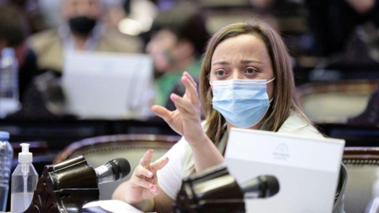 Cecilia Moreau en el Congreso. | Foto:CEDOC
