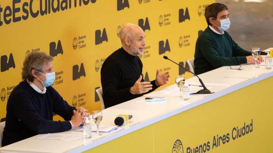 Conferencia de prensa Horacio Rodríguez Larreta 20210805