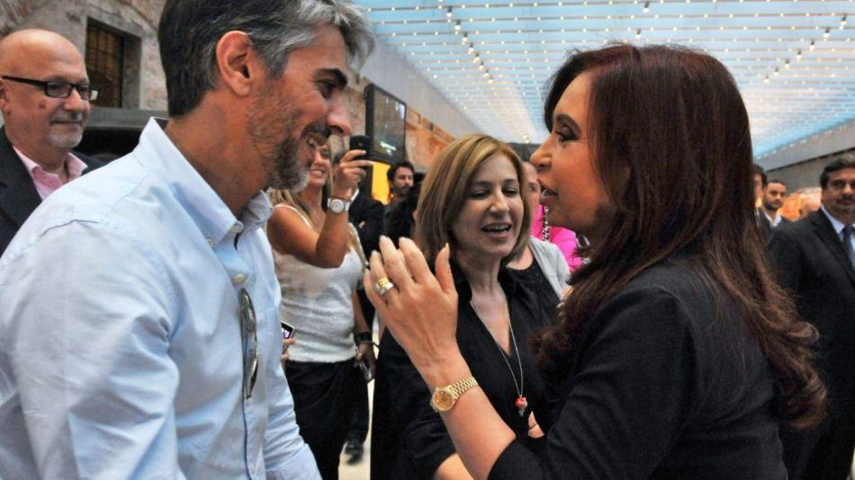 Pablo Echarri con Cristina Kirchner