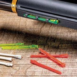 Guiones Hi-Viz de fibra óptica facilitan una rápida adquisición del blanco, aún en días de baja luminosidad.