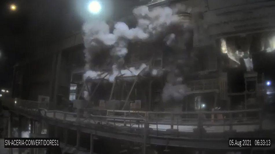 Explosión en Ternium Siderar