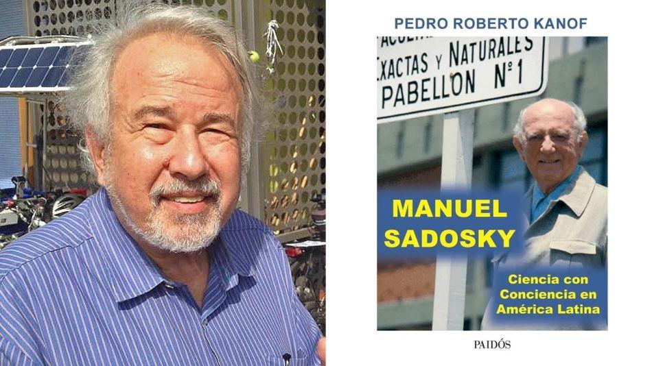 Pedro Roberto Kanof y tapa de su libro