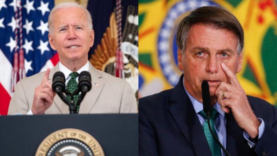 Estados Unidos Joe Biden Brasil Jair Bolsonaro g_20210807