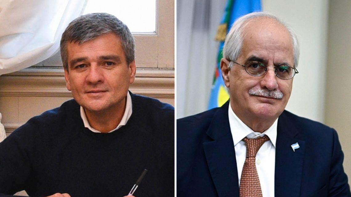 Juan Zabaleta (left) and Jorge Taiana (right).