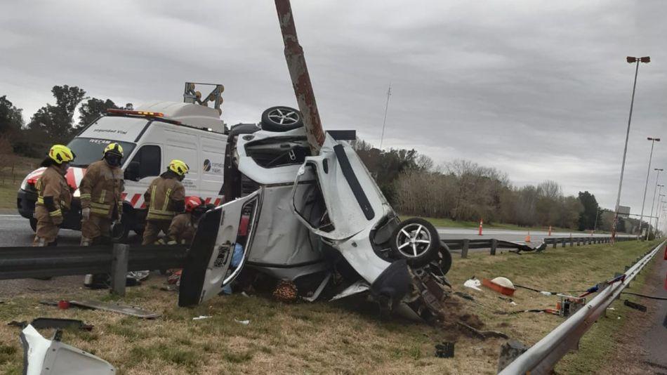 20210809 accidente en la autopista cañuelas-ezeiza