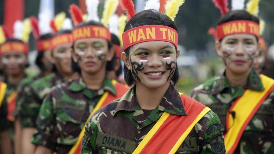 Mujeres en el Ejército de Indonesia 20210809