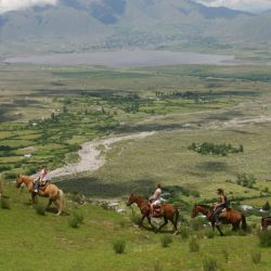 También se hacen cabalgatas en Tafí del Valle.