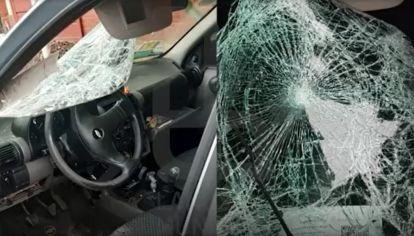 Así quedó el Chevrolet Corsa que atropelló y mató a una mujer en Lanús.