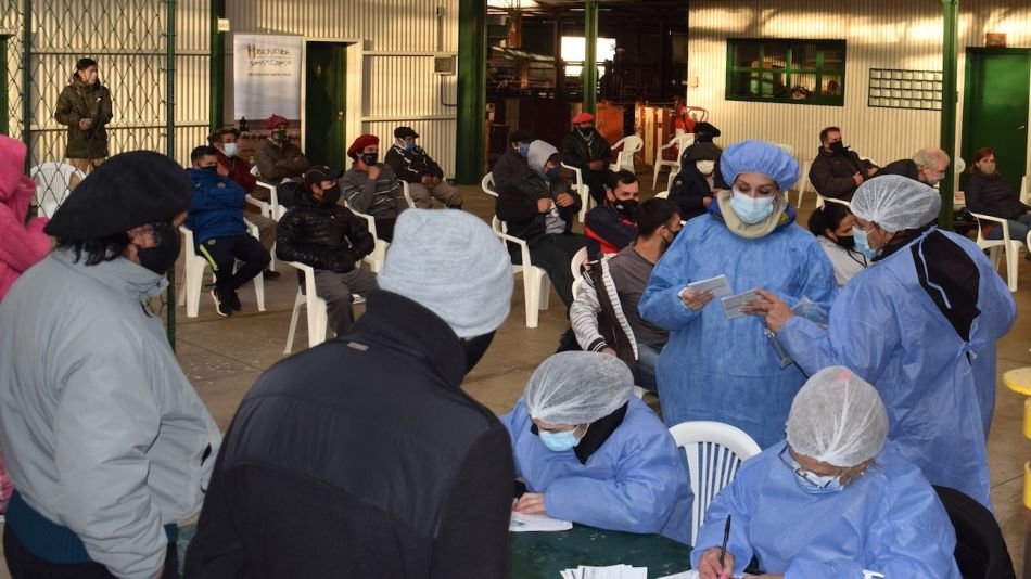 Vacunación de trabajadores rurales