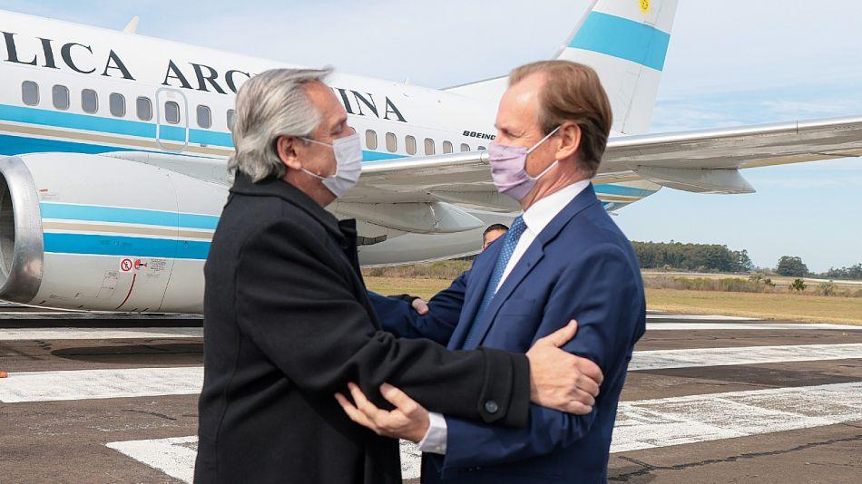 Alberto Fernández con el gobernador de Entre Ríos Gustavo Bordet.