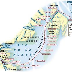 Mapa del derrotero.