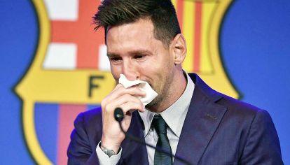 Llanto. Su salida del Barcelona, profecías formuladas, ofrece una nota de color.
