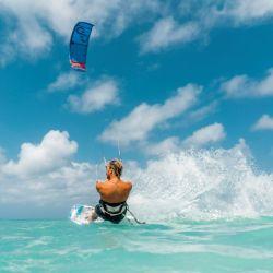 Práctica de Kite en Armando's Beach, Aruba