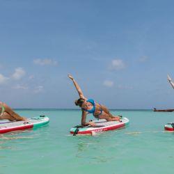 Paddle Board Yoga en Aruba.