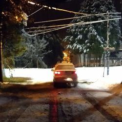 Las calles cèntricas de Bariloche, teñidas de blanco