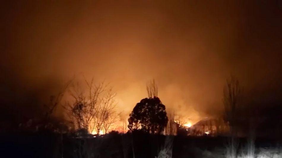 Incendio en cerros de Lunlunta