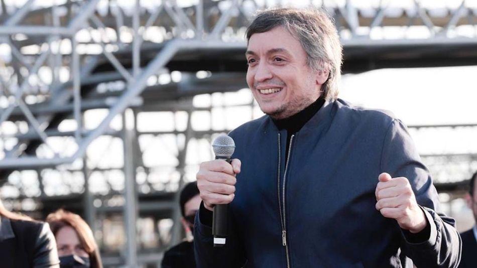 Máximo Kirchner en el mercado ganadero de Cañuelas