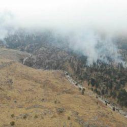 Los dos incendios se desataron en  la mañana de hoy en las sierras cordobesas. .