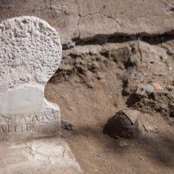 La tumba data de las últimas décadas de la vida de la ciudad de Pompeya.