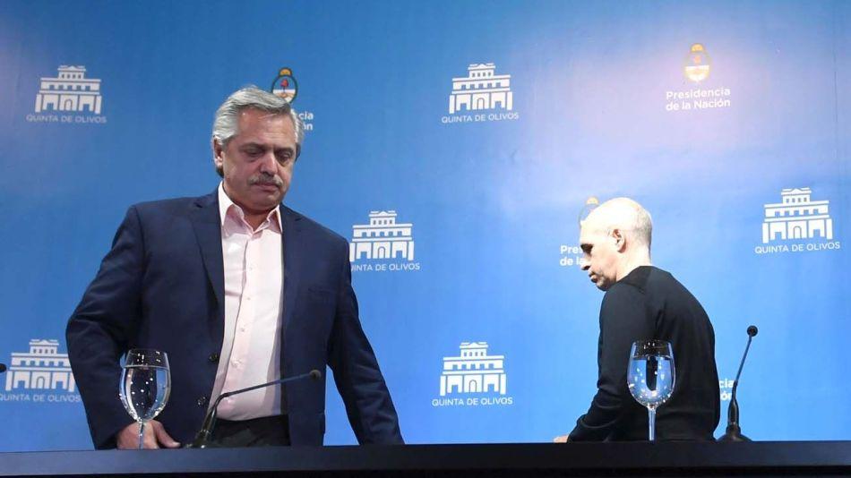 Alberto Fernández y Horacio Rodríguez Larreta: se anticipa la campaña electoral 2021-23. | TÉLAM